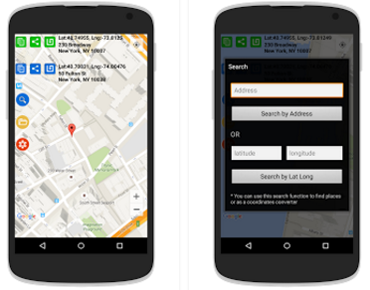 logiciel position gps android